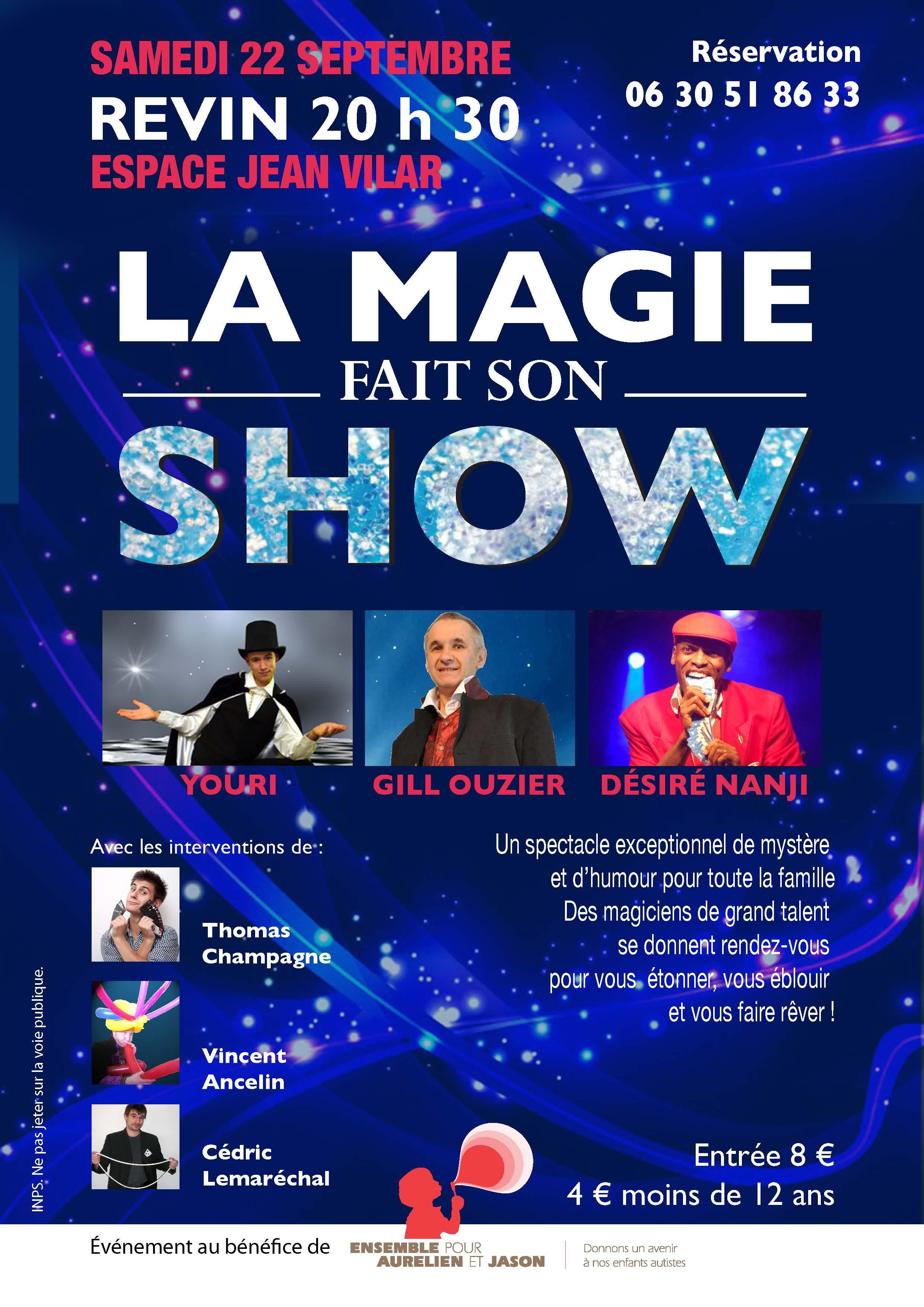 Célèbre REVIN – Autisme : « La magie fait son show » à l'Espace Jean Vilar  PV86