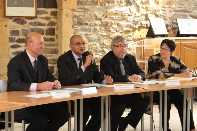 Pierre N'Gahane a plaidé en faveur d'un projet construit avec et pour les habitants. (Photo @rdenne mag)