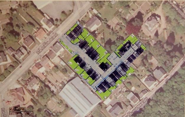 Une vingtaine de maisons individuelles devraient être construites sur l'emplacement de l'ancien collège Briand (document non contractuel).