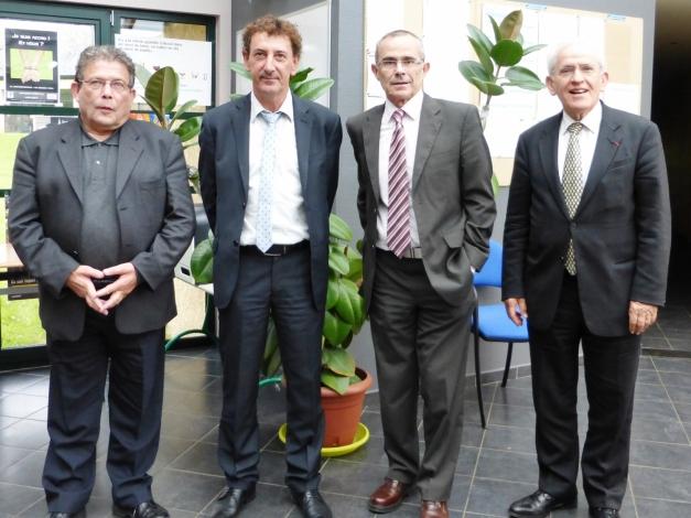 De gauche à droite : Patrice Germain (président de l'Apajh 08), Nicolas Ducarmes (directeur de l'Apajh 08), Jean-Louis Garcia (président de l'Apajh) et Jean-Claude Rouanet (vice-président de l'Apajh).(Photo @rdenne-mag)