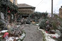 Les employés de la Ville se sont investis dans la réalisation de ce marché. Ici, la reconstitution d'une forêt sous la neige.