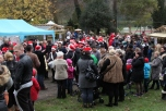 Après la parade, l'UMR a joué quelques airs de Noël.